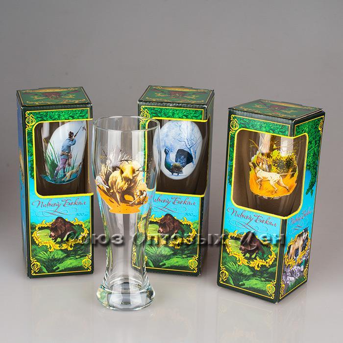 Бокал для пива Охота 500мл арт.303-Д  п/уп