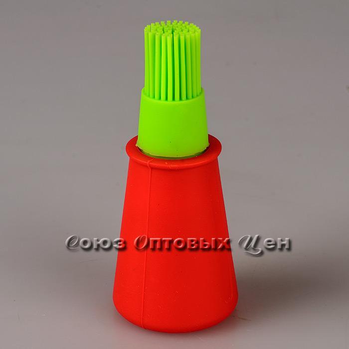 кисть пекарская силикон с емкостью для масла A74-R403-18 уп/48