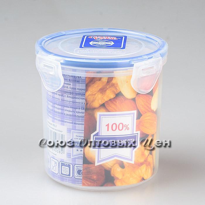 Контейнер пласт защелк для пищ/прод 0,78 л.//R2-2 уп/27