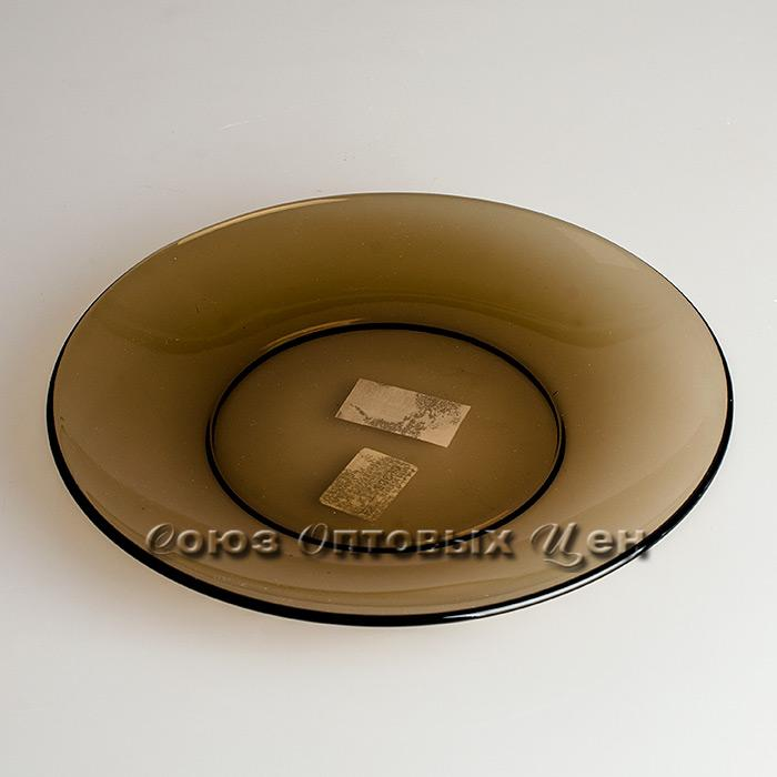 тарелка обеденная стекло дым 20см BASILICO 62072 уп/6