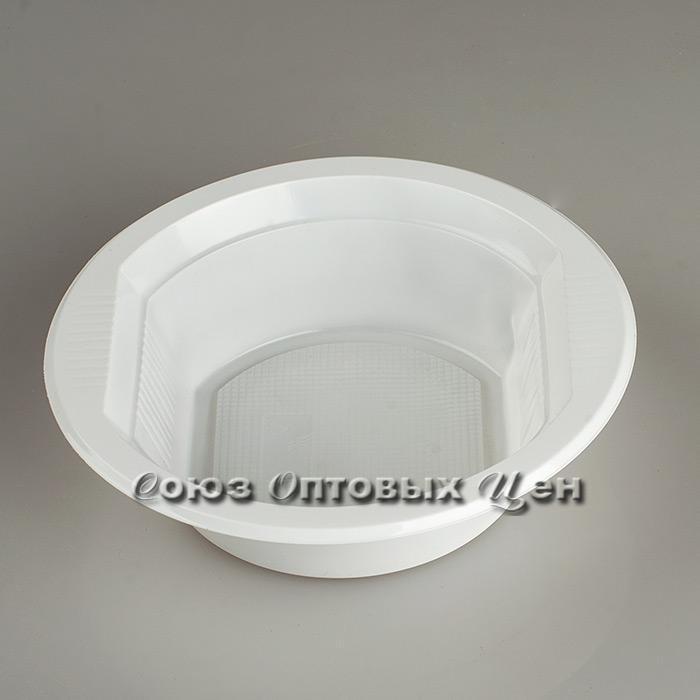 тарелка супов. 500 мл. РР  СОЦ  белая ЕВРО  50/1500