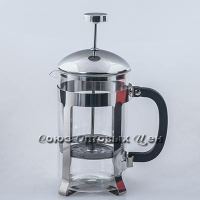 Стакан стекл для заваривания чая с ручкой пластм P2 120 800