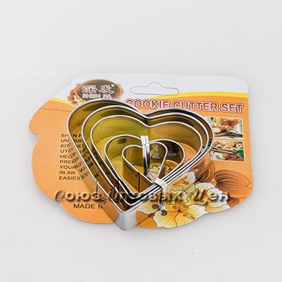 форма для выпечки печенья метал 5шт сердце
