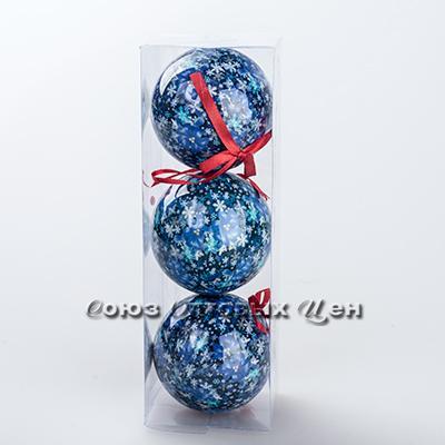 новогоднее украшение на елку шары 8см гл. S-3 №30