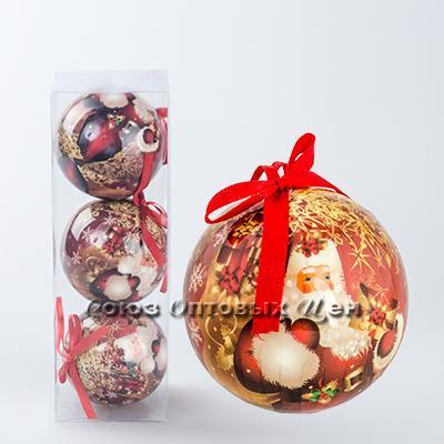 новогоднее украшение на елку шары 8см гл. S-6 №25