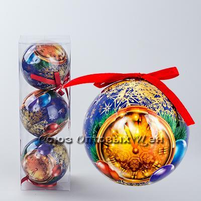 новогоднее украшение на елку шары 8см гл. S-7 №26