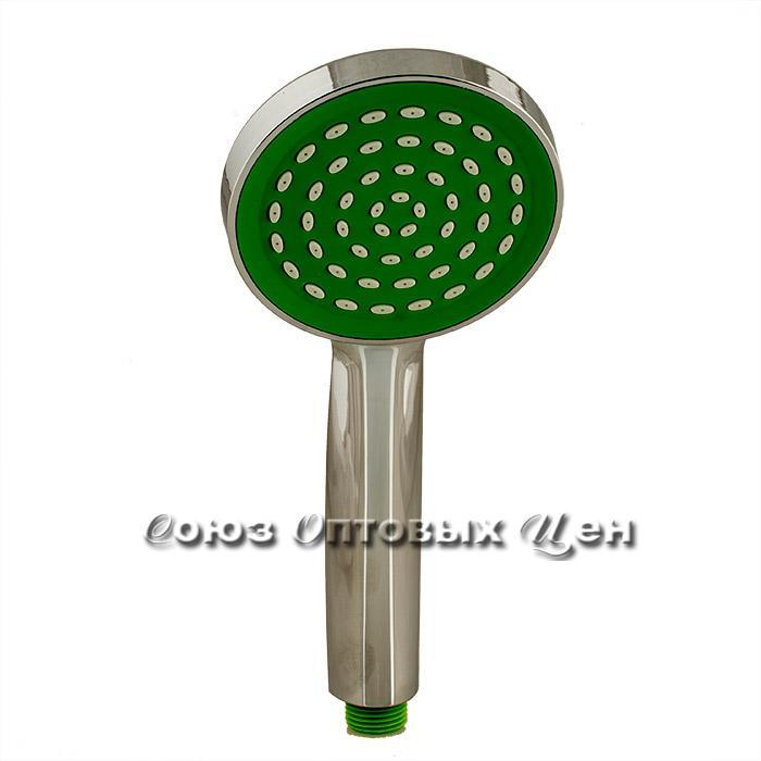 лейка для душа 40011-1 хром-зеленый (кор200 шт)