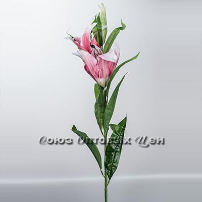 цветок искуственный лилия 3цветка, 95см
