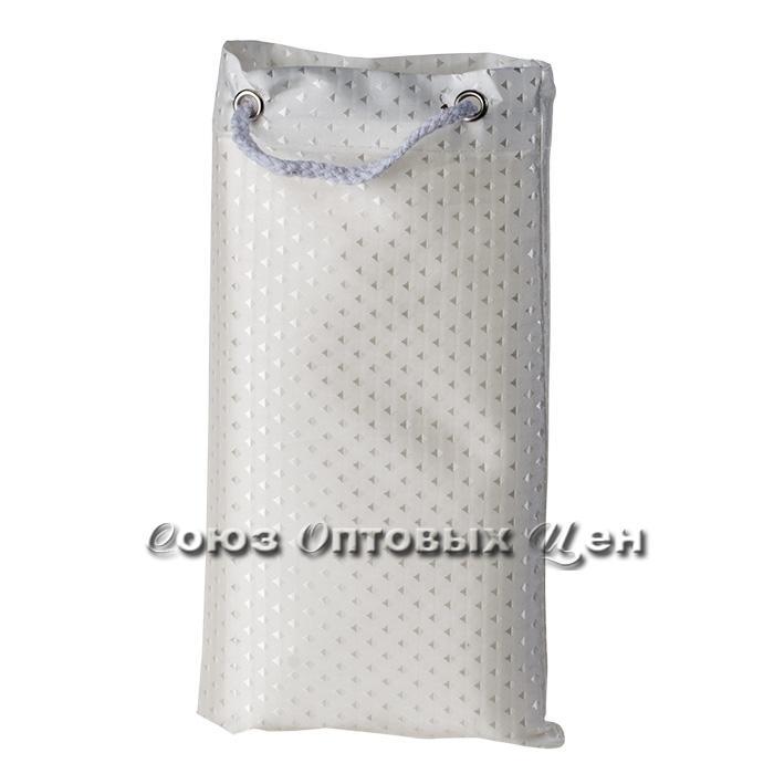 штора в ванну 180*180 тканевый мешочек XT-813-2 бел.