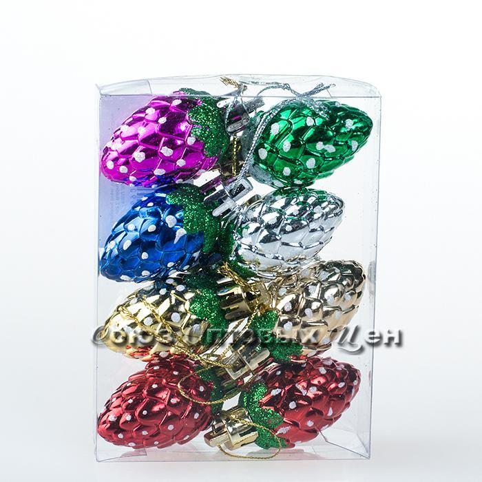украшение новогоднее на елку 4ADC8-A113/8H уп8 шт 4 см №70