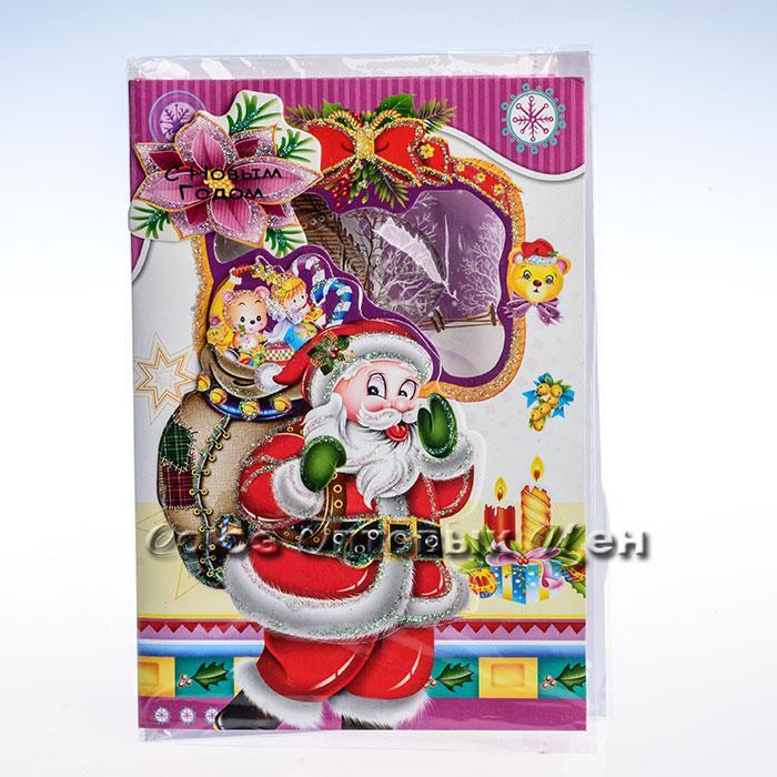 открытка новогодняя 14,5*20cm SD9-10 уп 24шт