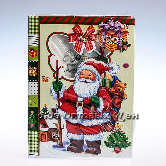 открытка новогодняя 14,5*20cm SD10-10 уп 24шт