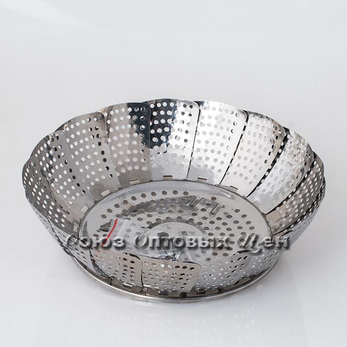 Пароварка складная метал d 28см AZS 5807- 2
