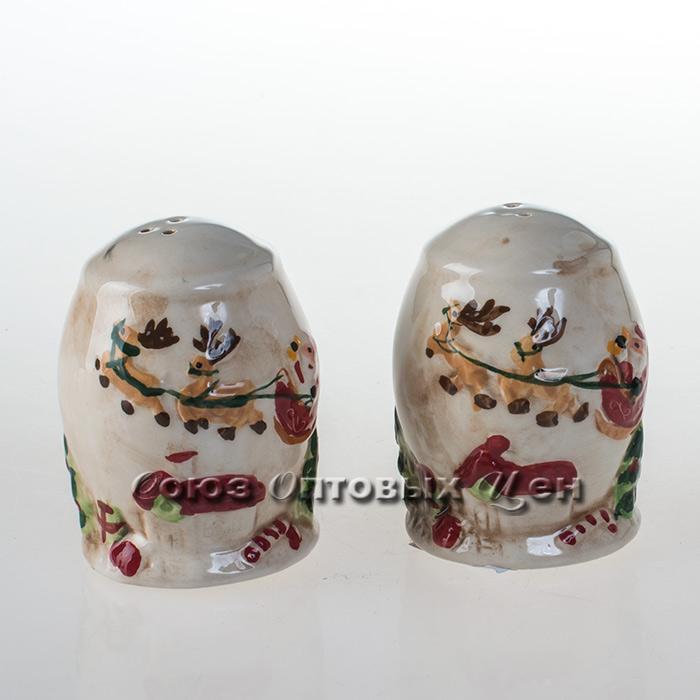 Солонки керам  НГ уп/2шт 128002 кор96 наб Л6