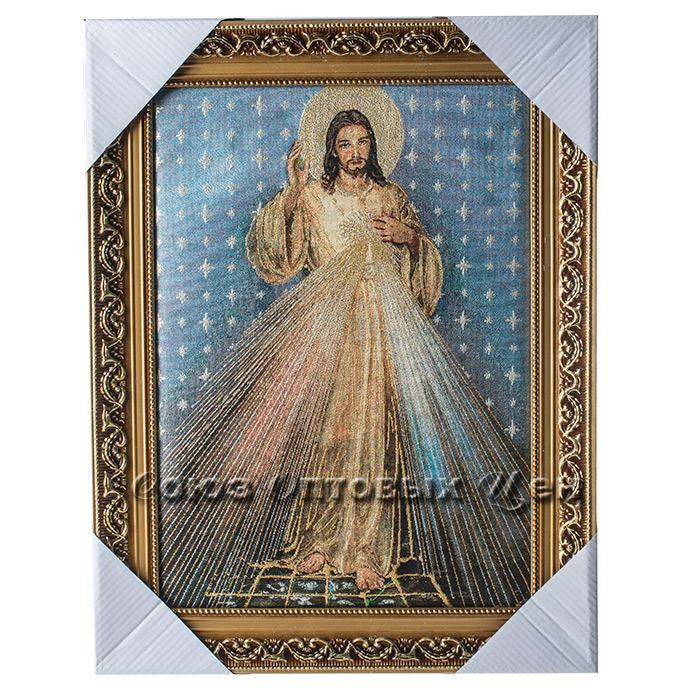 картина в раме гобелен золото религия JBM388  37*47