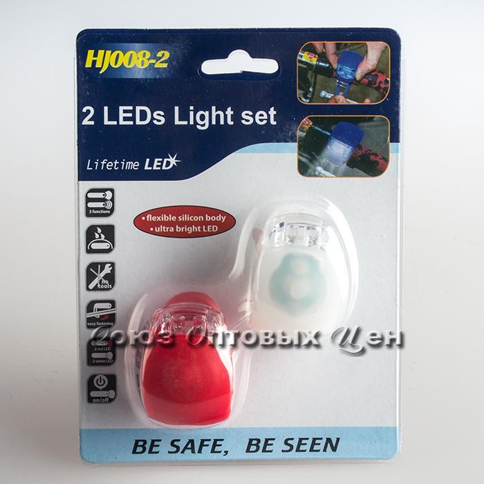 фонарь пласт сигнальный для колясок и велосипедов  уп/60шт 008-2