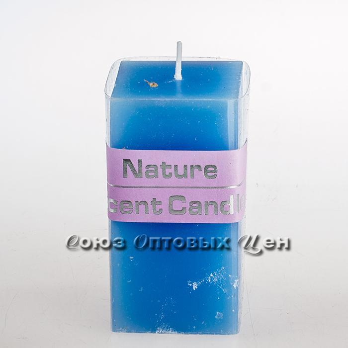 свеча парафиновая квадратная голубая HJ-10