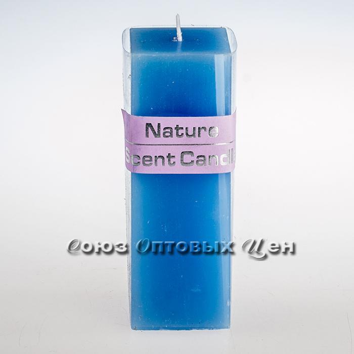 свеча парафиновая квадратная голубая HJ-12