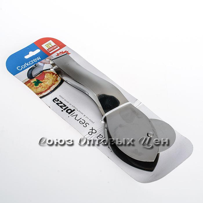 нож и щипцы метал д/пиццы CHY2848