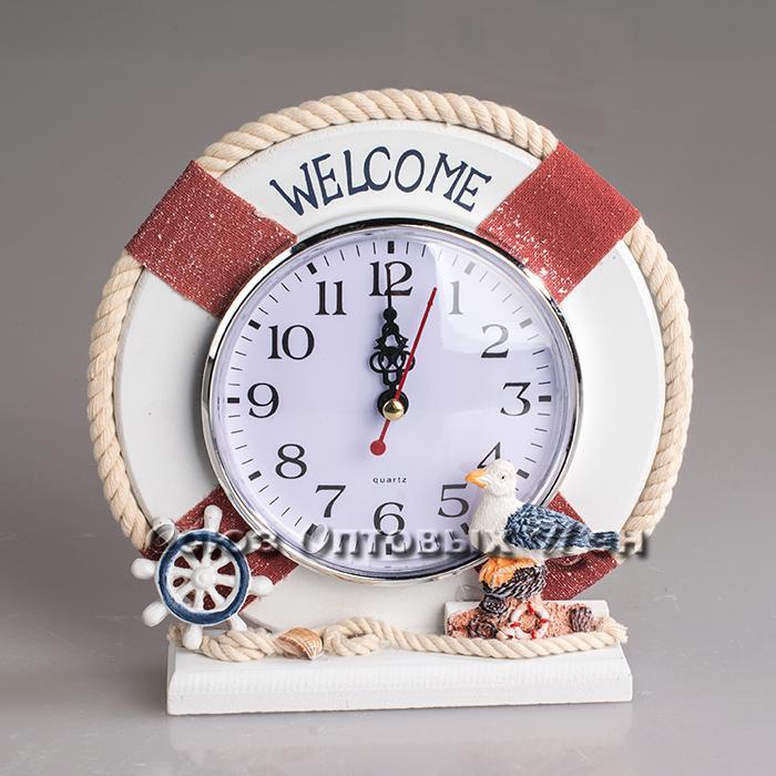 часы настол дер/рамка  17*17см А-308  уп4