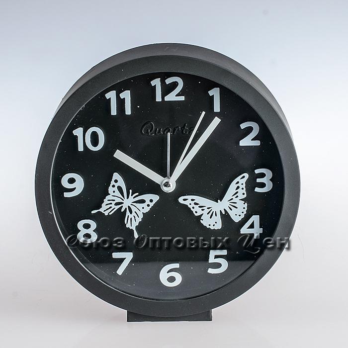 часы будильник настольный MHT463B 14*14см