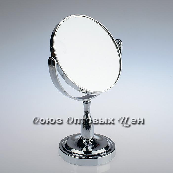 зеркало настольное D-15см 2-х стороннее 9018