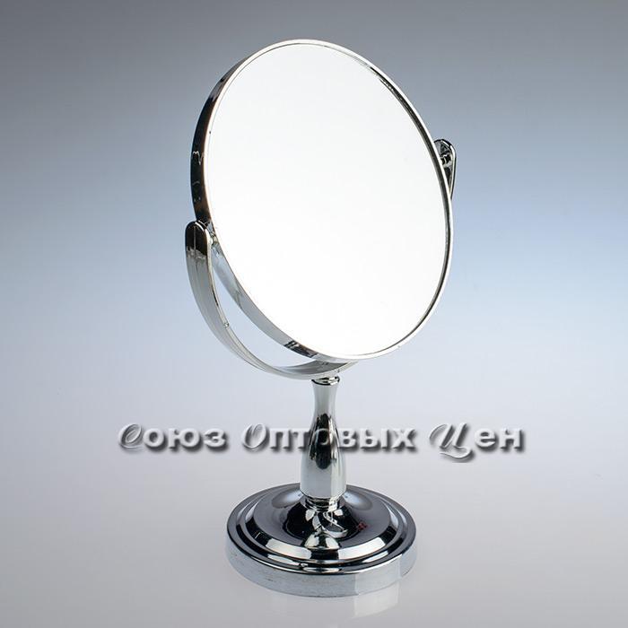 зеркало настольное D-17,5см 2-х стороннее 9010