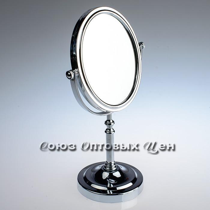 зеркало настольное овал 16,5*19,5см 2-х стороннее 5125H