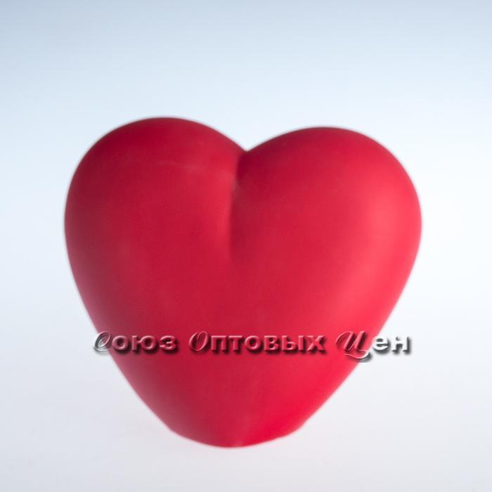 сувенир сердце полимер ночник на батарейке 14см Н-34
