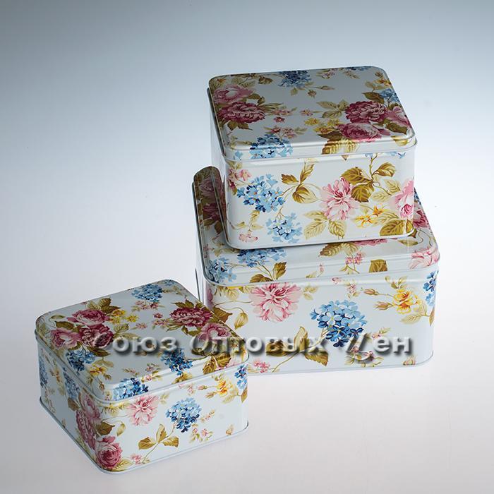 сувенир банки декоративные металл  наб 3шт 03552-10 Н-302
