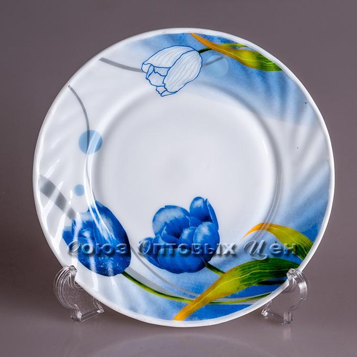 тарелка стекло кругл d=23 6615-т9 6/36