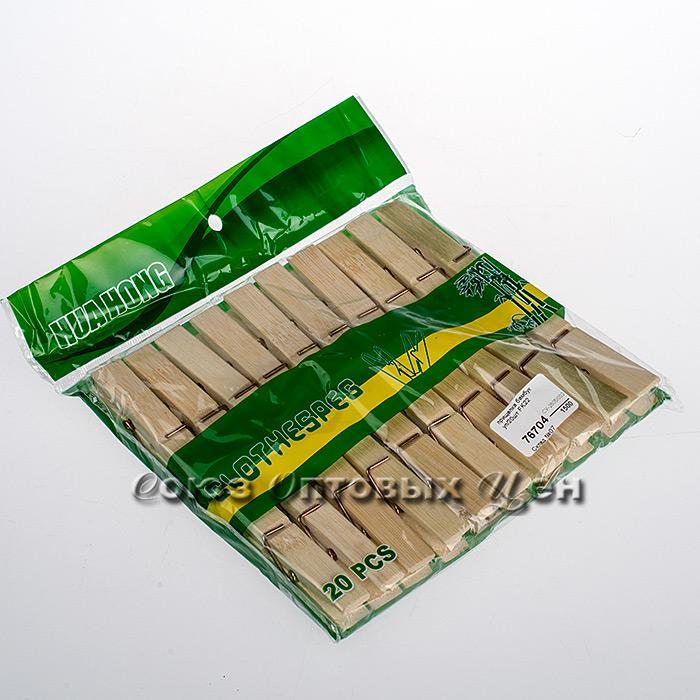 прищепка бамбук, 7,5 см, уп/20шт FK22