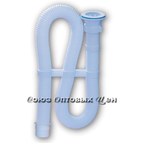 сифон Орио гофрированный 1 1/2 х 40 белый, с пластиковой решеткой D-70мм, д