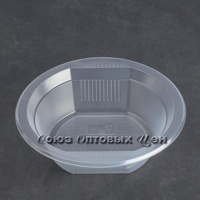 тарелка одноразовая суповая  500 мл. РР  СОЦ  прозр.ЕВРО  50/1500