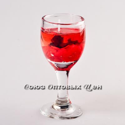 свеча гелевая в стекл стакане 8034
