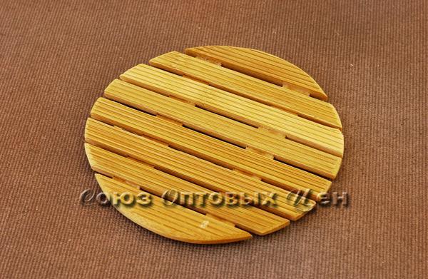 подставка под горячее бамбук d-15 КН-24