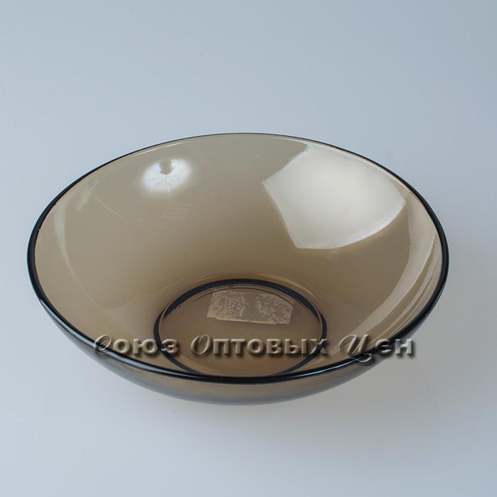 тарелка суповая стекло дым19см BASILICO 62070 уп/6