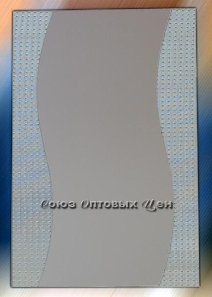 зеркало настенное 60*40см YY-9005 двойное, прямоугольная волна вертикальная