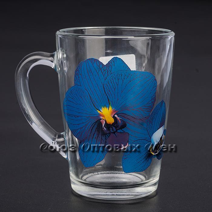 кружка Капучино 07с1334 Орхидея синяя 300мл уп/20шт