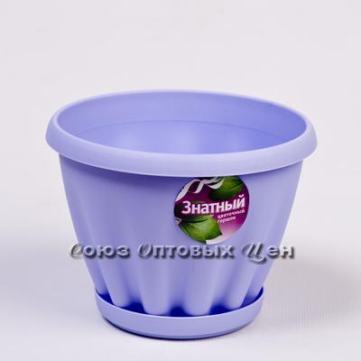 горшок для цветов пласт Знатный цветн 140 с под 1л М301Ц (шт.)