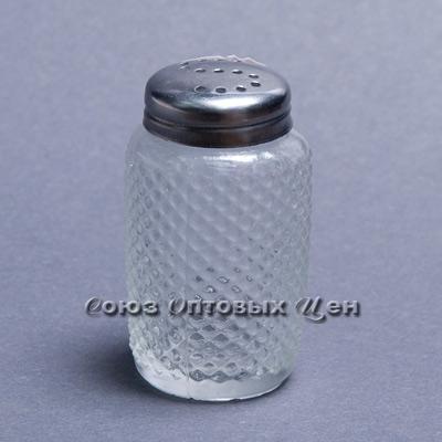 солонка стекло мет крышка 87357-3 уп/24 Н10