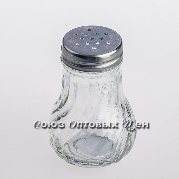 солонка стекло мет крышка 88417-1 уп/24 Н10