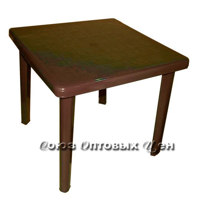 стол пласт Романтик 80*80 h72 шоколад Т211 (в)
