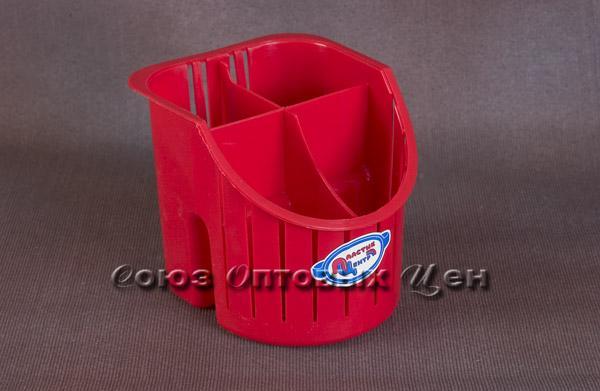 сушилка для столовых приб. 4-х секц красн ПЦ1550КР