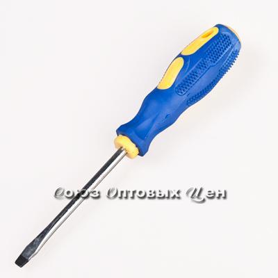 отвертка резин. ручка магнитная 4*75мм.+ (уп/12шт) А-92