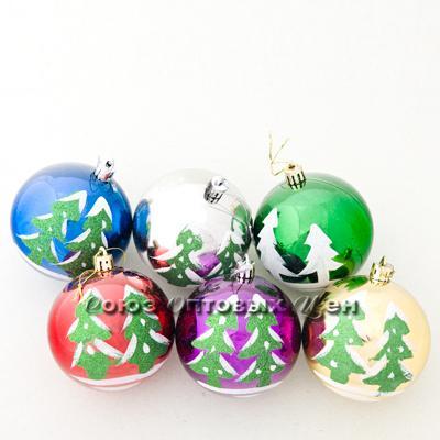 новогоднее  украшение на елку шары 8см S044 В/43