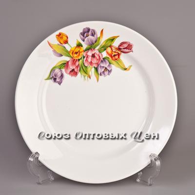 тарелка 200 мел гр8 Тюльпаны-2 056 уп/26