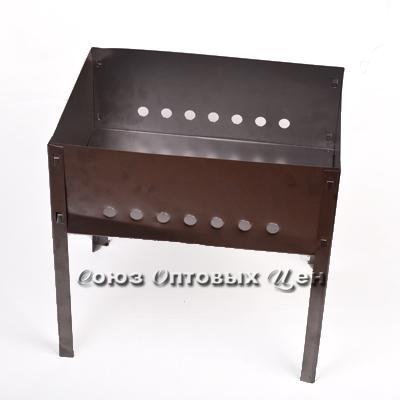 мангал сборный (средний) 40*25*14 без шампур 0,5мм в коробке