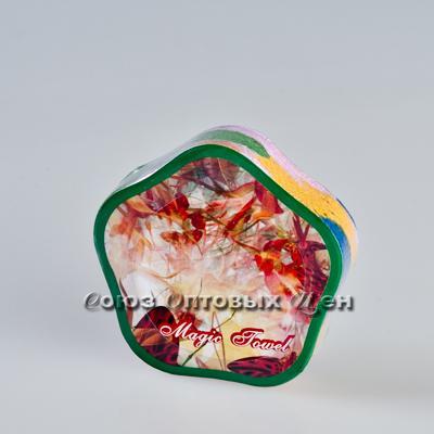 полотенце прессованное Цветок уп/12 GM-3