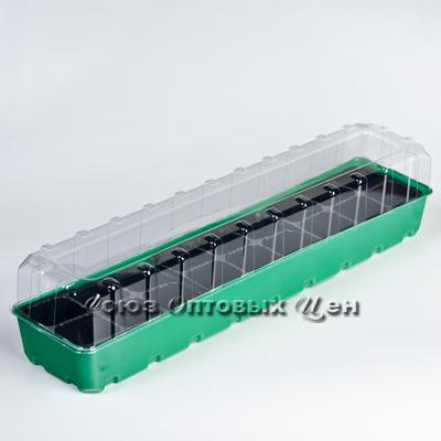 минипарник д/рассады 60см (18 ячеек) зеленый ING60011F (кор 13 шт)